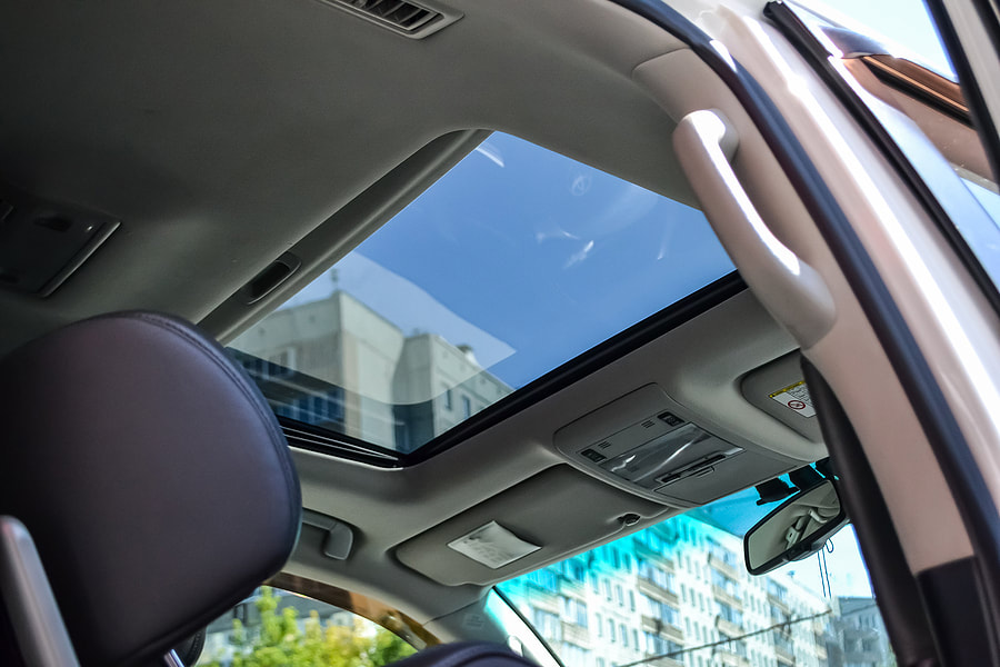 car has glass roof